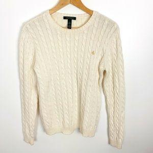 Lauren Ralph Lauren Womens Size L Sweater Cream